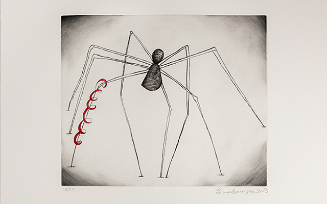 Louise Bourgeois Sem título (Spider and Snake), 2003 água-forte e ponta seca/etching and drypoint 15/50 acervo Banco Itaú/Banco Itaú Collection